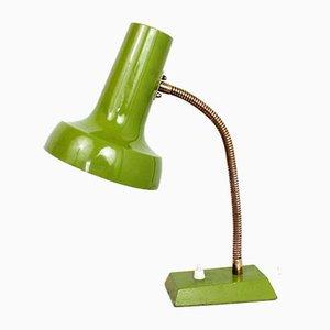 Lámpara de escritorio vintage de metal verde