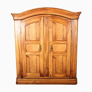 Antique Biedermeier Walnut Wardrobe, 1800s