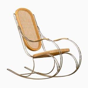 Rocking Chair en Laiton, 1960s