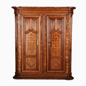 Baroque Oak & Walnut Wardrobe, 1750s