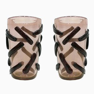 Vasen aus Muranglas von Costantini, 1980er, 2er Set