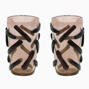 Vases en Verre de Murano par Costantini, 1980s, Set de 2