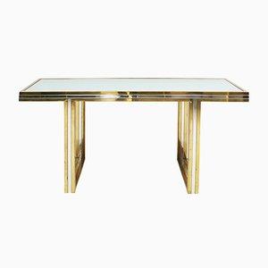 Brass & Chrome Console Table by Romeo Rega, 1970s