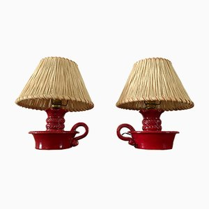 Mid-Century Ceramic Lamps by Charlotte Corbin, Set of 2