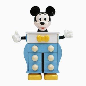 Cajonera de Mickey Mouse de contrachapado y plástico de Pierre Colleu para Starform, años 80