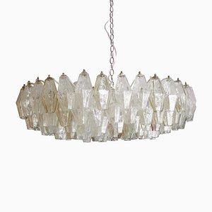 Lámpara de araña Poliedri Mid-Century de cristal de Murano de Carlo Scarpa, años 60