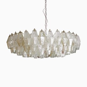 Mid-Century Poliedri Murano Glass Chandelier by Carlo Scarpa, 1960s