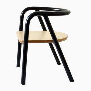 Sedia da bambino in metallo nero di Mum and Dad Factory per Swing Design