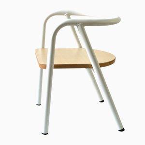 Chaise d'Enfant Blanche en Métal par Mum and Dad Factory pour Swing Design