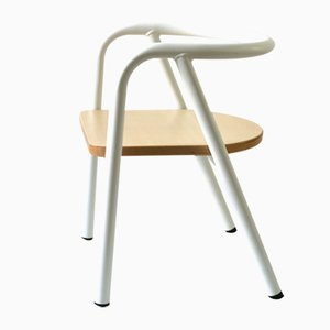 White Metal Children's Chair by Mum and Dad Factory for Swing Design