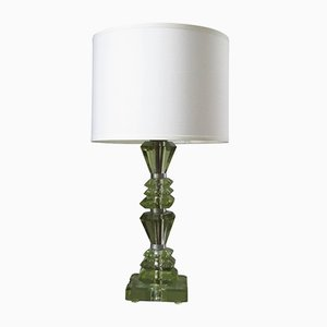 France Cut Crystal Glass Table Lamp from Saint Gobain, 1935