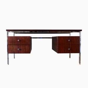 Rosewood & Chrome Executive Desk, 1970s