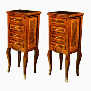 Napoleon III Style Bedside Tables, 1930s, Set of 2