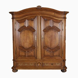 Antique Baroque Oak Wardrobe, 1750s