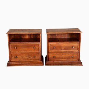 Antique Biedermeier Walnut Commodes, Set of 2