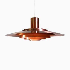 Lámpara de techo de cobre de Kastholm & Fabricius para Nordisk Solar, 1964