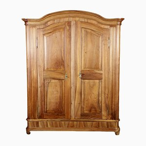 Baroque German Walnut Wardrobe, 1800s