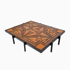 Mesa de centro americana Art Déco geométrica, años 20