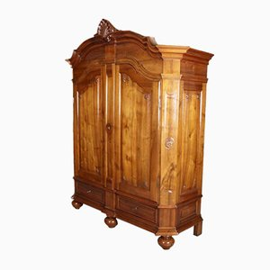 Antique Solid Walnut Wardrobe