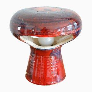 Lampe de Bureau Mushroom en Céramique, 1970s