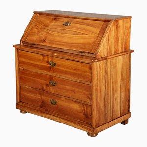 Secretaire Biedermeier antico in legno di ciliegio