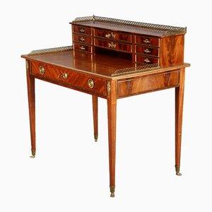 Antiker barocker Schreibtisch aus Mahagoni