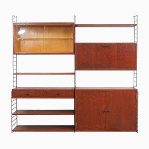 Unidad de pared modular vintage de teca