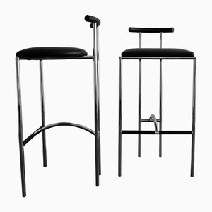 Tokyo Bar Stools by Rodney Kinsman for Bieffeplast, 1980s, Set of 2