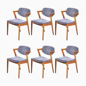 Z-chair # 42 Esszimmerstühle aus Eiche von Kai Kristiansen für Schous Møbelfabrik, 1960er, 6er Set