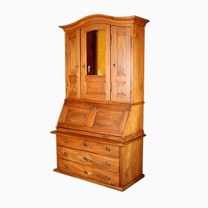 Secretaire Luigi XVI in legno di noce massiccio, inizio XIX secolo