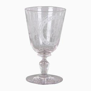 Copa antigua de vidrio de Holmegaard, década de 1880