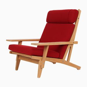 GE375 Oak Lounge Chair by Hans J. Wegner for Getama, 1960s