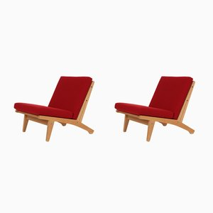 Model GE 370 Lounge Chairs by Hans J. Wegner for Getama, 1960s, Set of 2
