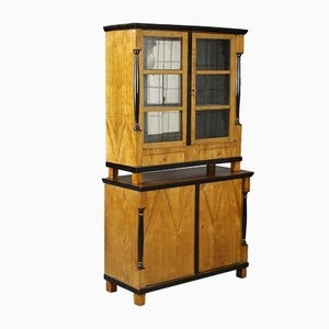 German Wood & Glass Display Cabinet, 1810s