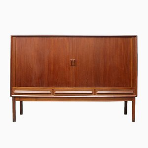 Danish Teak Sideboard with Sliding Doors, 1950s