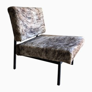 Mid-Century Dutch Cowhide Armchair by Martin Visser