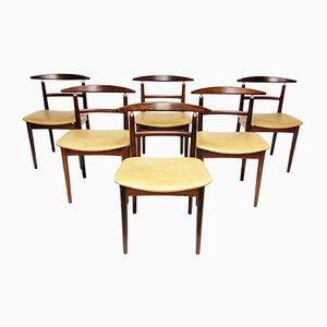 Dänische Modell 465 Esszimmerstühle aus Palisander von Helge Sibast und Børge Rammeskov, 1962, 6er Set