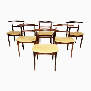 Danish Model 465 Rosewood Dining Chairs by Helge Sibast and Børge Rammeskov, 1962, Set of 6