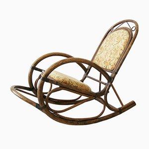 Sedia a dondolo in bambù, anni '80