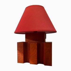 Massive Holzlampen von Maison Regain, 1980er, 2er Set