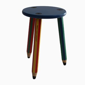 Colorful Pencil Stool by Pierre Sala, 1980s