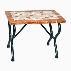 Rectangular Ametista Marble Mosaic Bench from Egram
