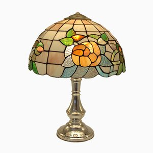 Tiffany Style 800 Silver Table Lamp, 1950s