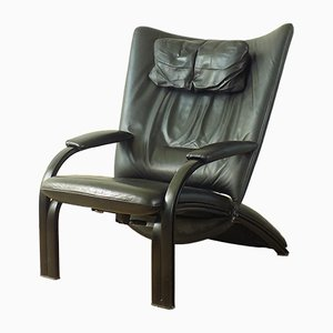 Leather Model WK Spot 698 Relax Lounge Chair by Stephan Heliger for WK Wohnen, 1980s