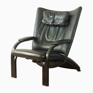 Leder Modell WK Spot 698 Relax Sessel von Stephan Heliger für WK Wohnen, 1980er