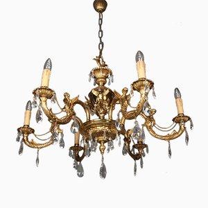 Lampada Art Nouveau in bronzo, anni '10