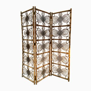 Vintage Bambus Wandschirm