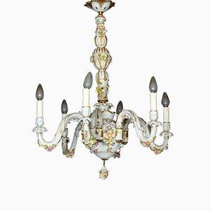 Lámpara de araña de porcelana, años 20