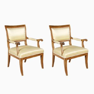 Vintage Biedermeier Style Armchairs, 1920s, Set of 2