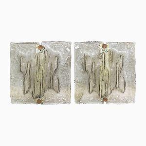 Wandleuchten von Toni Zuccheri für Venini, 1960er, 2er Set